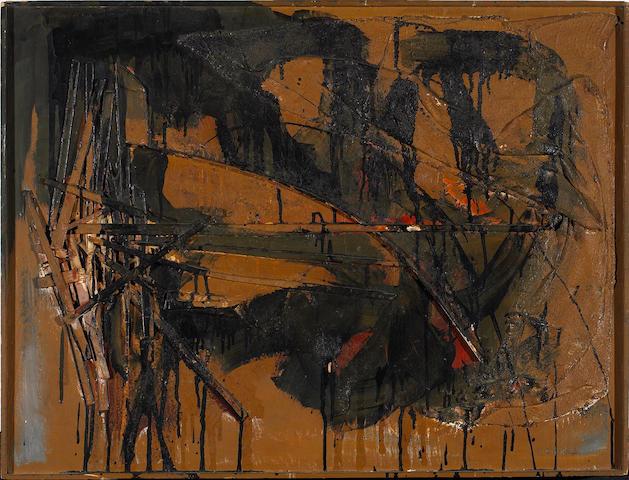 Edward Kienholz (American, 1927-1994) Untitled, 1956 27 3/4 x 36 1/2in