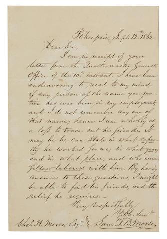 MORSE, SAMUEL F.B.  1791-1872.