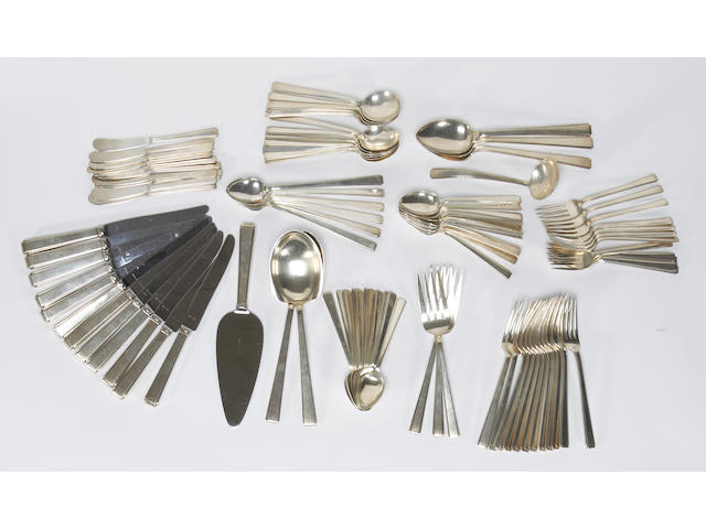 Sterling Modern Classic flatware set by Lunt