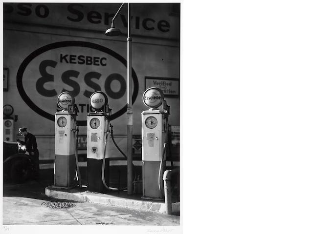 Berenice Abbott (American, 1898-1991); Esso Station NY 1935 framed;