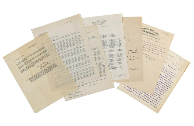 Letters of theatrical impresarios
