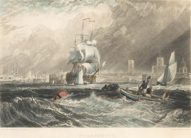 """Portsmouth"" Eng. by T. Lipton, Drawn by JMW Turner"