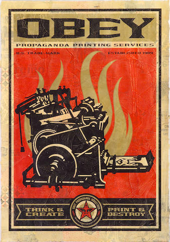 Shepard Fairey (American, born 1970); Print & Destroy, from 20th Anniversary Edition;