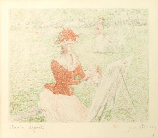 Claude Monet (French, 1840-1926); Femme au Chevalet;