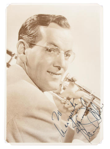 Glenn Miller signed photograph