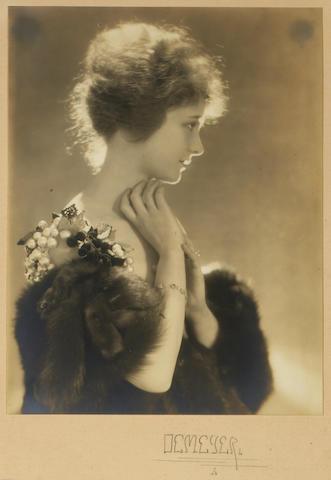 Baron Adolf De Meyer (French, 1868-1949); Portrait of Elsie Ferguson;