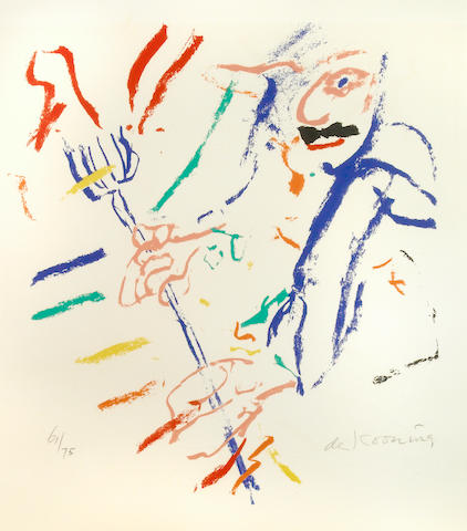 Willem de Kooning (American, 1904-1997); Devil at Keyboard;