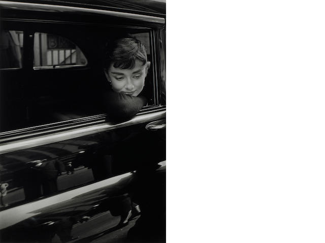 Dennis Stock (American, 1928-2010); Audrey Hepburn while filming 'Sabrina';