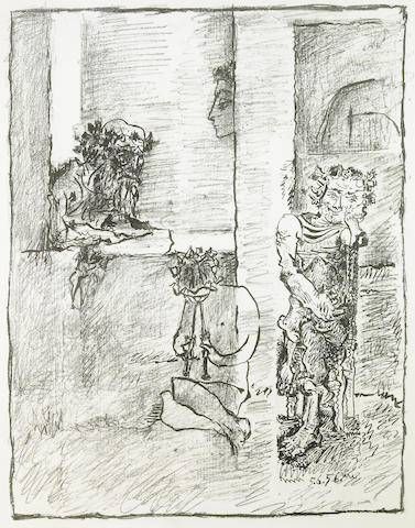 Pablo Picasso (Spanish, 1881-1973); Scène Antique;