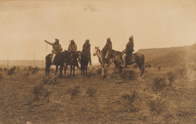 Edward S. Curtis (American, 1868-1952); The Lost Trail, Apache;
