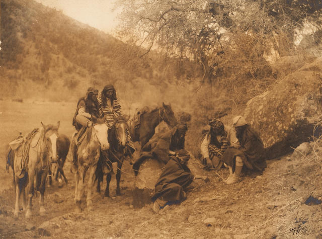 Edward Curtis Story Telling, Apache, 1903;