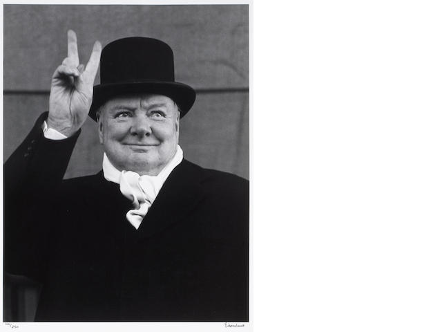 Alfred Eisenstaedt (American, 1898-1995); Sir Winston Churchill, Liverpool;