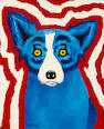 George Rodrigue, I Live for My Country, Acrylic on canvas, 20 x 24 inches
