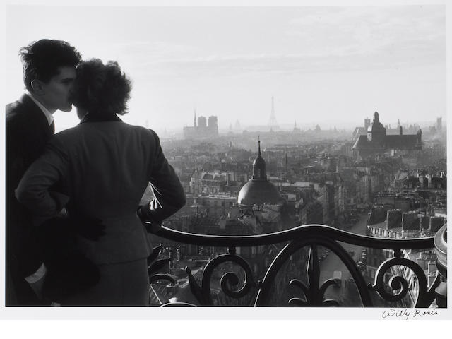 Willy Ronis (French, 1910-2009); Les Amoureux de la Bastille, Paris;