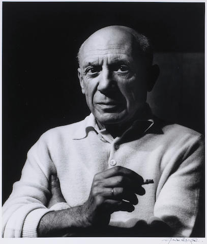 (n/a) Lucien Clergue (French, born 1934); Picasso à la Cigarette à La Californie, Cannes;