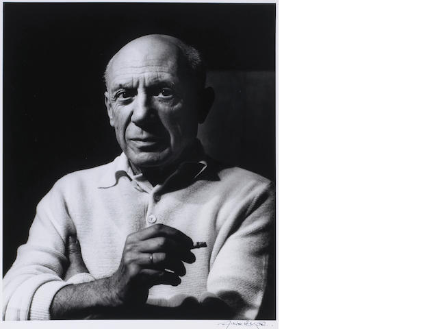 Lucien Clergue (French, born 1934); Picasso à la Cigarette à La Californie, Cannes;