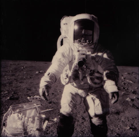 (n/a) Michael Light (American, born 1963); Full Moon: Alan Bean at Sharp Crater with the Hand Tool Carrier, photographed by Charles Conrad, Apollo 12, November 14-24, 1969;