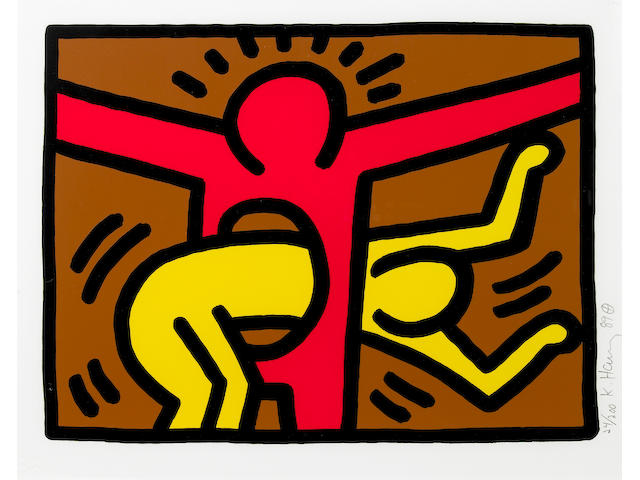 Keith Haring (American, 1958-1990); Pop Shop IV; (4)