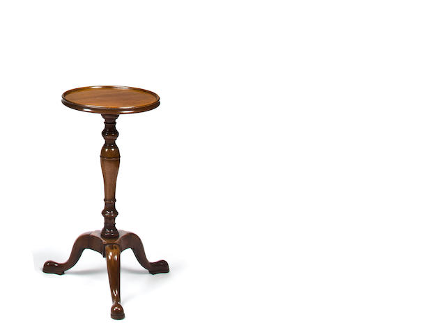 A George II mahogany dish top kettle stand<br>mid-18th century