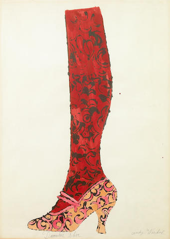 Andy Warhol (American, 1928-1987); December Shoe, from Shoe and Leg;