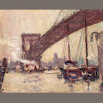 Frank Coburn, Brooklyn Bridge, 9.5 x 7.5in