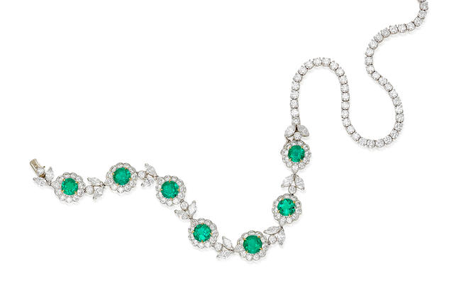 An emerald and diamond necklace, Van Cleef & Arpels,