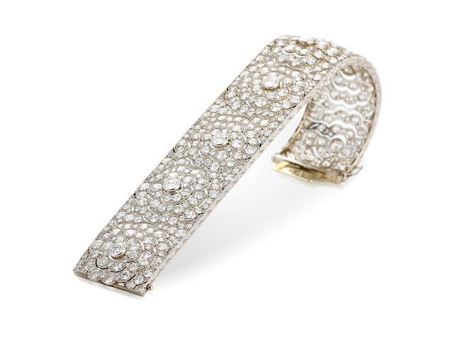 An art deco diamond bracelet, French,