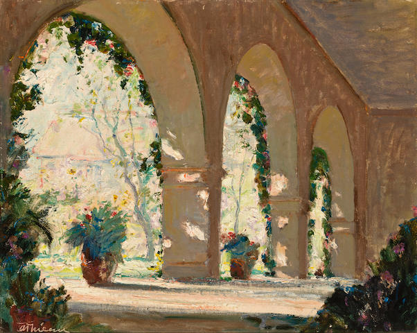 (n/a) Anthony Thieme (American, 1888-1954) Patio, Florida 16 x 20in
