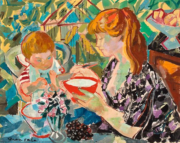Emilio Grau Sala (Spanish, 1911-1975), TO BE AUTHENTICATED Le Petit Dejeuner, 1957 20 x 25in (50.8 x 63.5cm)
