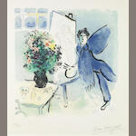 Marc Chagall (Russian/French, 1887-1985); L'Atelier Bleu;