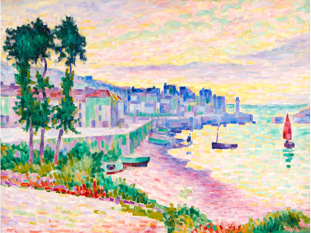 Jean Metzinger (French, 1883-1956) Saint Tropez 21 1/2 x 28 3/4