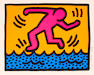 Keith Haring (American, 1958-1990); Pl.3,  from Pop Shop II;
