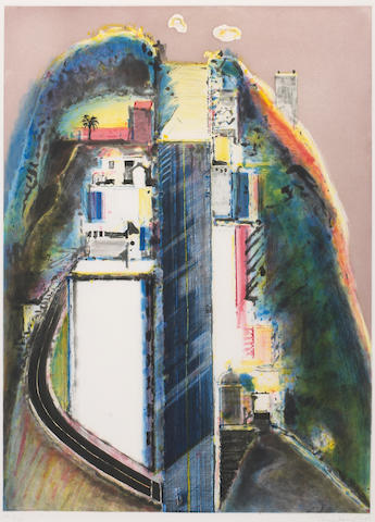 Wayne Thiebaud (American, born 1920); Steep Street;