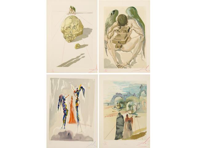 Salvador Dalí (Spanish, 1904-1989); L'Enfer; La Purgatoire; Le Paradis, from Dante Alighieri, La Divine Comédie; (100)