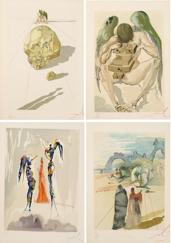 Salvador Dalí (Spanish, 1904-1989); La Divine Comédie, from Dante Alighieri, L'Enfer; La Purgatoire; Le Paradis,; (100)