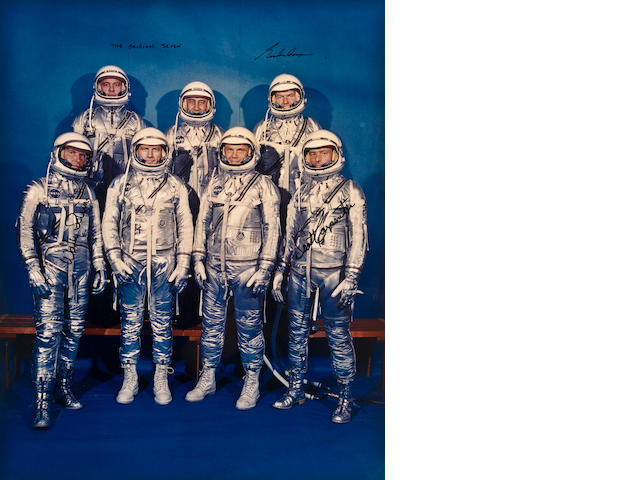 THE ORIGINAL MERCURY SEVEN.