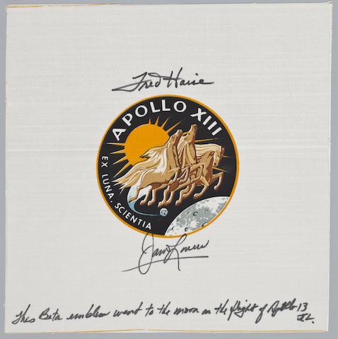 LOVELL'S APOLLO 13 BETA CLOTH EMBLEM.