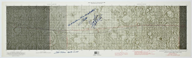 APOLLO 13 LUNAR ORBIT CHART.