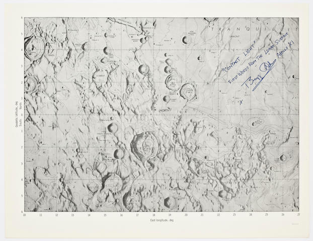CONTACT LIGHT! FIRST LUNAR LANDING CHART.