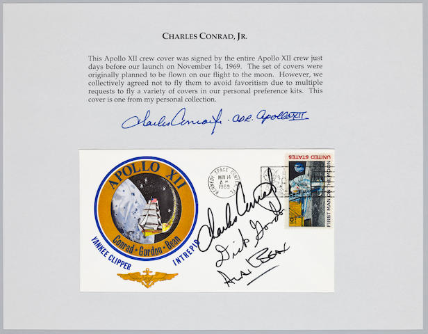CONRAD'S POSTAL COVER—SCHEDULED FOR FLIGHT.