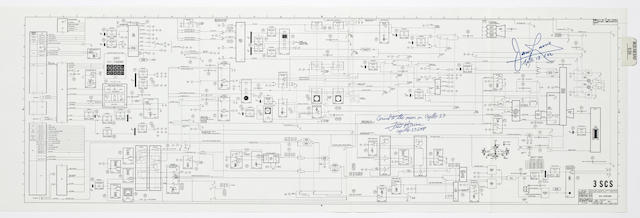 FLOWN APOLLO 13 AQUARIUS DESCENT ENGINE SCHEMATIC.