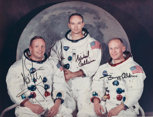 CREW OF THE FIRST MANNED LUNAR LANDING.