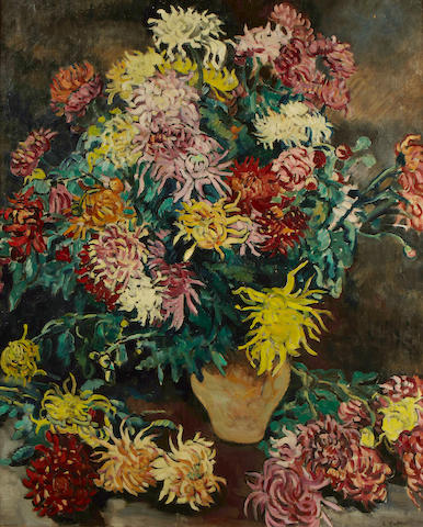 (n/a) Louis Valtat (1869-1952) Bouquet de dahlias, 1929 39 9/16 x 32 1/16in (100.5 x 81.5cm)