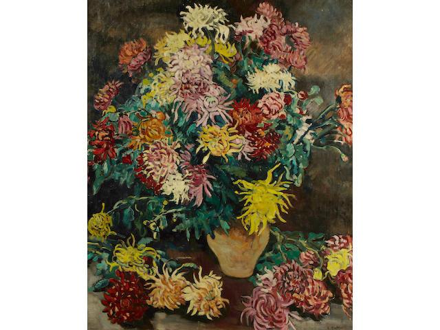 (n/a) Louis Valtat (1869-1952) Bouquet de dahlias, 1929 39 9/16 x 32 1/16in (100.5 x 81.5cm)