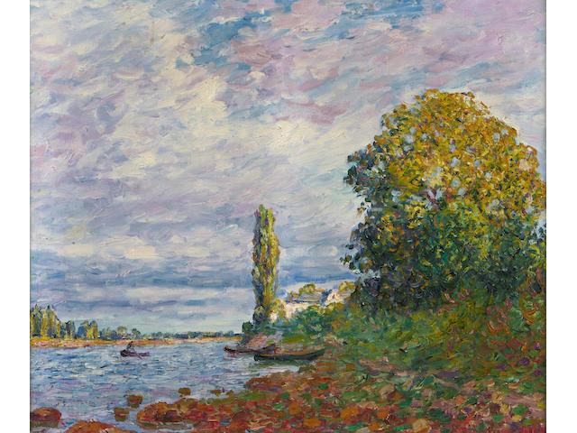 Francis Picabia (1878-1953) Effet de soleil sur les bords de la Loing or Loire???..., 1908 21 1/5 x 25 1/2in