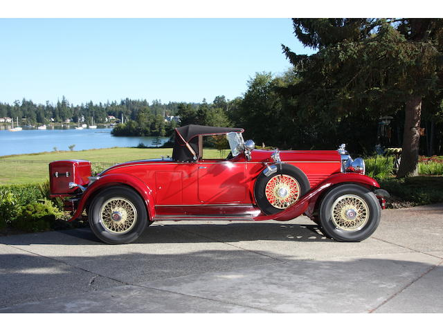 1929 Stutz Blackhawk Roadster  Chassis no. 16858 Engine no. 16858