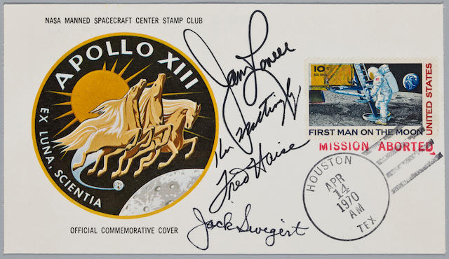 APOLLO 13 POSTAL COVER.