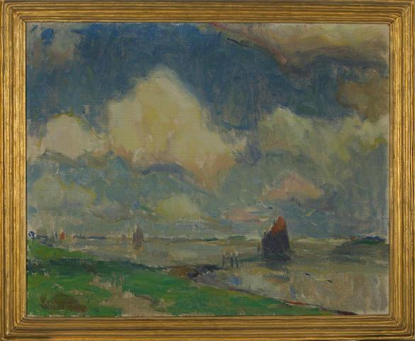 Armin Hansen (American, 1886-1957) Seascape, Belgium, 1912 24 x 30in