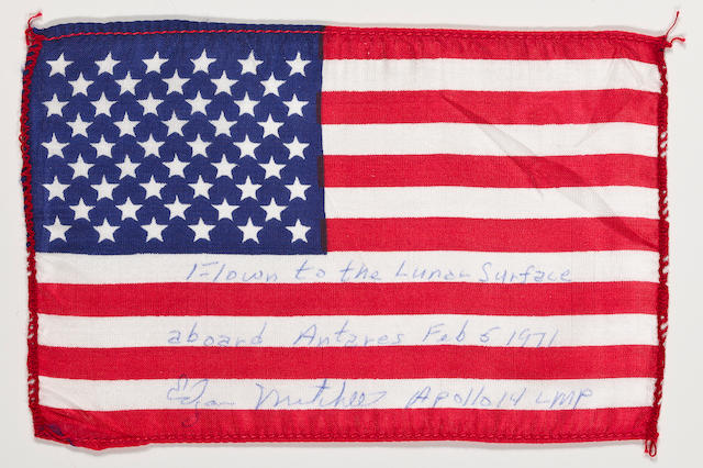 LUNAR SURFACE FLOWN US FLAG—APOLLO 14.