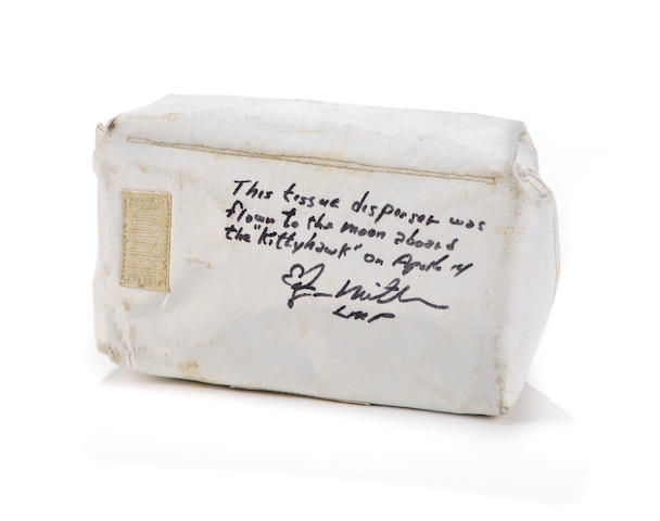 TISSUE DISPENSER FROM APOLLO 14 KITTY HAWK.
